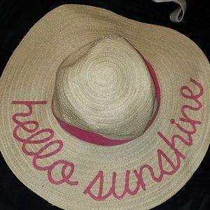 Hello sunshine sun hat
